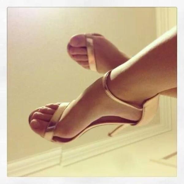 shoes high heels gold heels