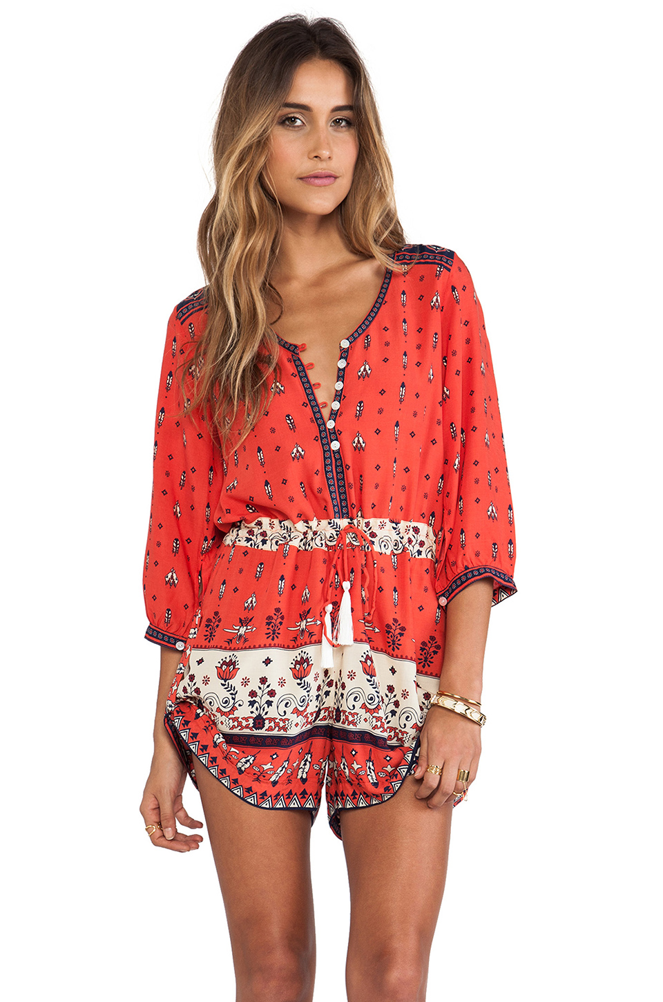 Spell & the gypsy collective desert wanderer playsuit in sunset from revolveclothing.com