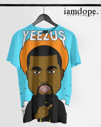 t-shirt yeezus yeezy yeezus tshirt dress dope swag art in our blood