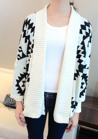cardigan beige aztec knitted cardigan coat winter sweater sweater fall outfits fashion kawaii girly clothes