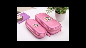bag pencil case pink