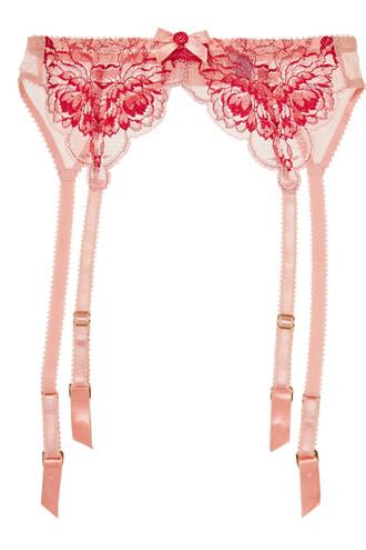 belt lace blush red