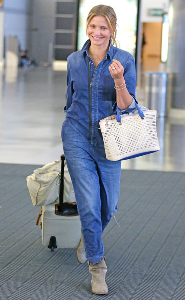jumpsuit denim cameron diaz boots shoes