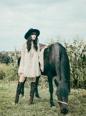 jag lever,blogger,country style,boho dress,knee high boots,gypsy