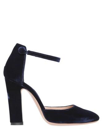 pumps velvet navy shoes