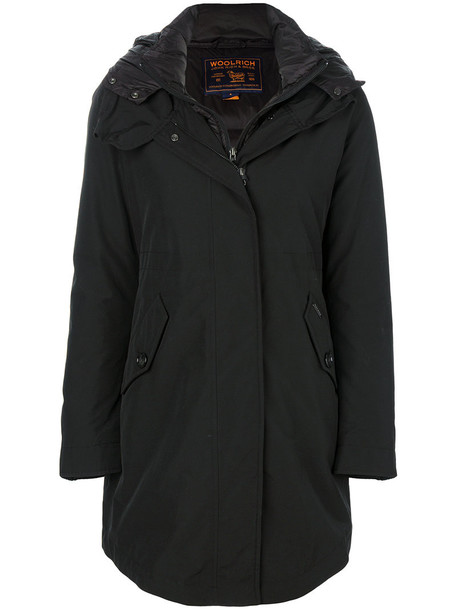 Woolrich coat parka women cotton black