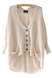 sweater,knitwear,wrap cardigan,long sleeves,high low,cardigan