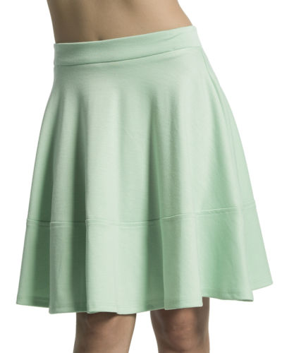 MOGAN Ponte Skater Skirt Soild High Waisted Flared A Line Circle Skirt | eBay