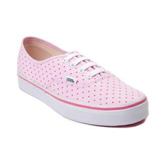 shoes vans skatershoes cute polka dots polka dot pink pink shoes