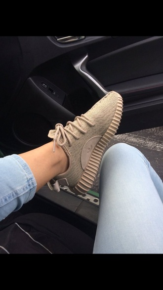 shoes adidas beige yeezy 350 boost sneakers
