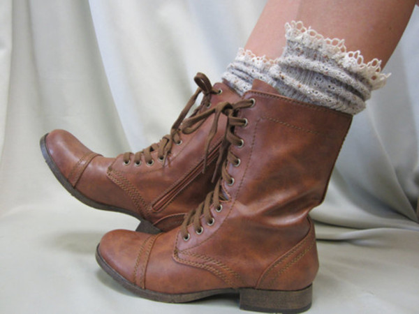 Shoes Indie Hipster Boots Vintage Boots Brown Leather