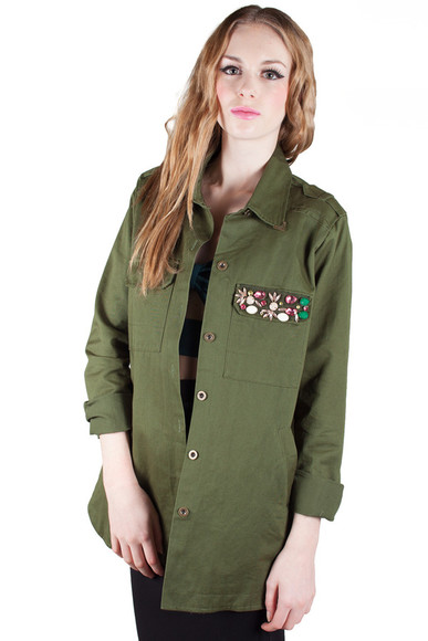jacket kaki military jacket military army jacket