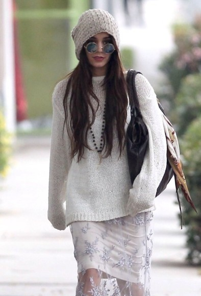 sunglasses sweater vanessa hudgens
