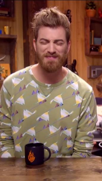 sweater abstract rhett abstract print rhett mcglaughlin rhett and link