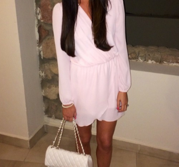 dress white flowy