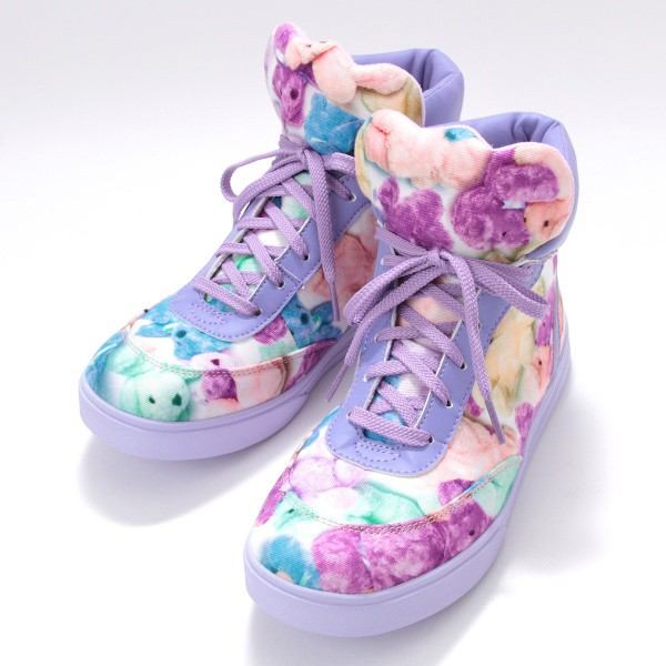 shoes bear funny colorful colorful teddy bear childhood kawaii sneakers japan japanese streets japanese fashion japanese