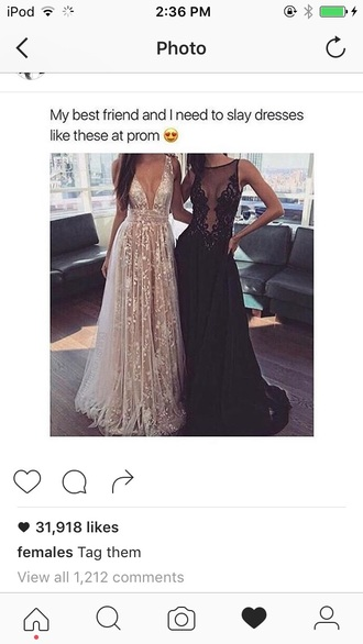 dress black and gold lace glitter