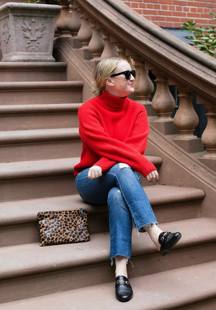 wit&whimsy blogger sweater jeans shoes bag jewels