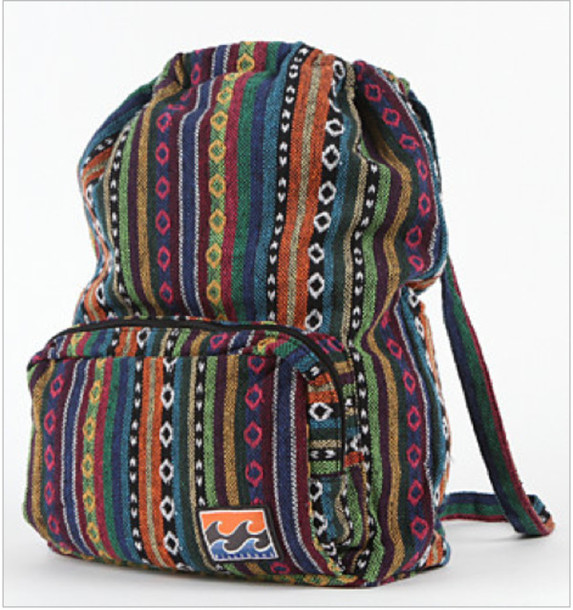 tribal pattern backpack colourful bag