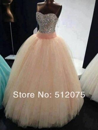 dress quinceanera dress prom dress pink tulle skirt pink quinceanera dress