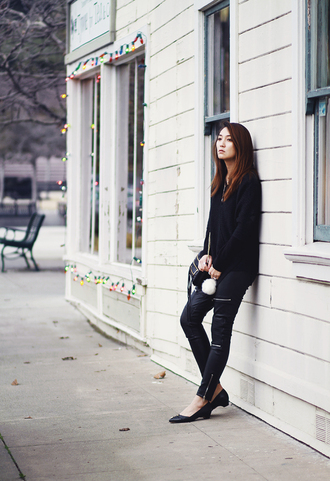 clothes to midnight blogger sweater pants bag jewels