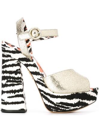 heart sandals metallic shoes
