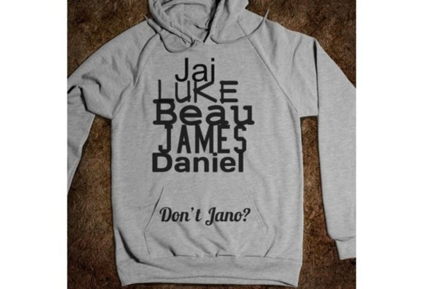 sweater jai brooks beau brooks daniel sahoonie james janoskians janoskians grey sweatsirt sweatshirt hoodie black luke brooks