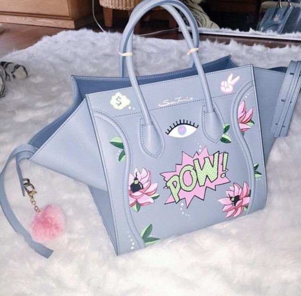 bag purse pastel light blue pow cute dope