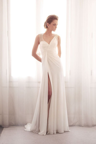 dress white white dress formal elegant formal dress prom bridal 2014 prom dresses formal party dresses