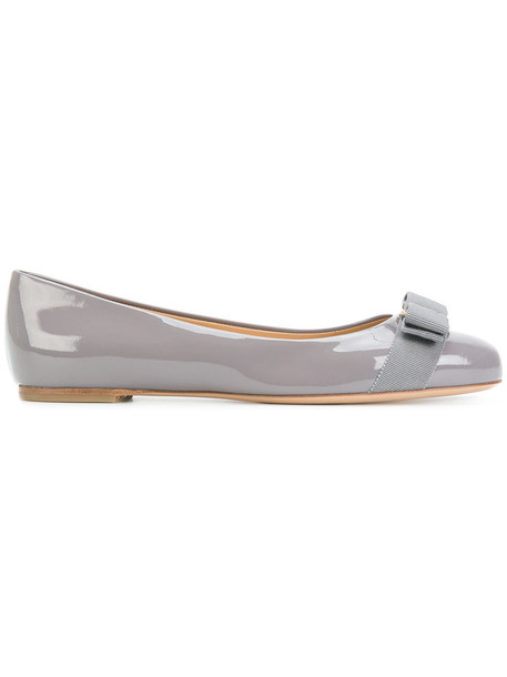 bow women pumps leather grey shoes