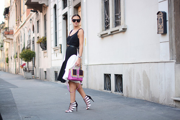 dress fashion vibe bag shoes sunglasses