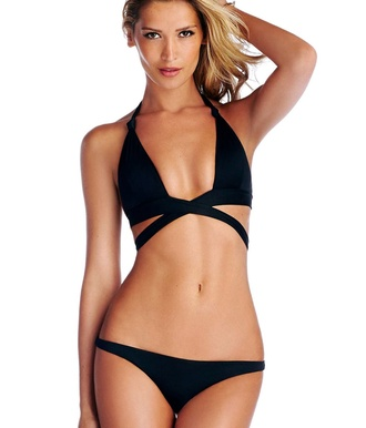 swimwear black bikini wrap