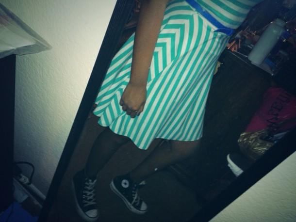 dress blue and white striped dress