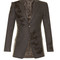 Butterfly-embroidered wool blazer