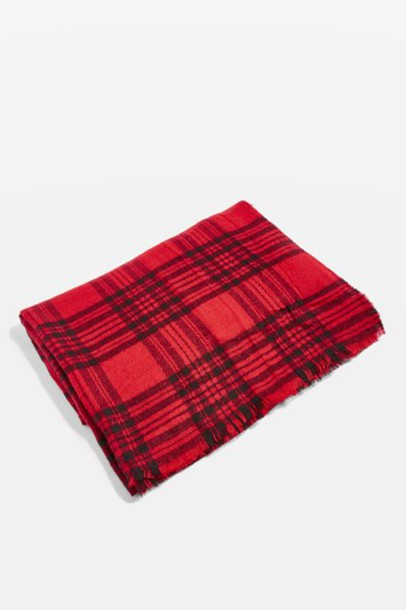 Topshop scarf red