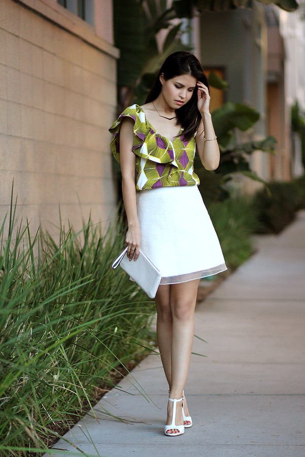 fake leather top skirt bag shoes jewels