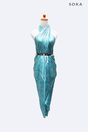 dress,wrap dress,sarong,silk,batik,soka