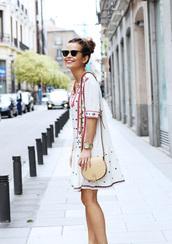 sequins & stripes,sunglasses,dress,bag,jewels,shoes,boho,spring,spring dress