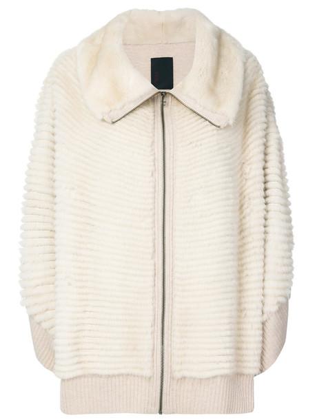 Liska jacket oversized fur women nude