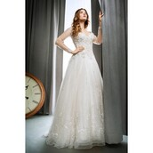 dress,kenneth cole reaction,wedding dress,ivory dress,high-low dresses,organza