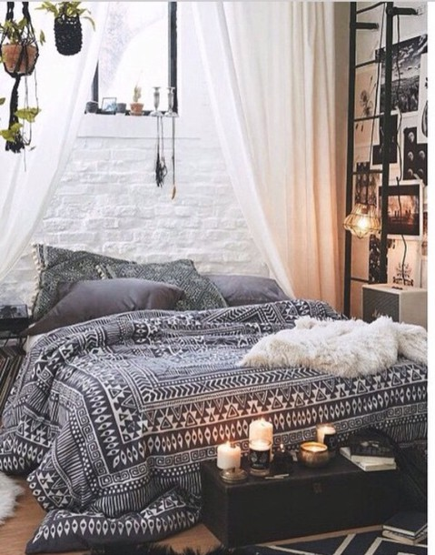Home Accessory Bedding Tumblr Bedroom Teen Bedrooms Popular Bedrooms  Bedding Boho Hippie