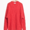 & other stories | oversized cable knit sweater | coral