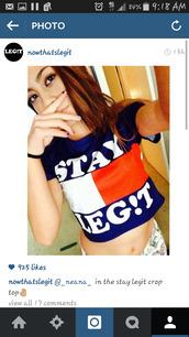 tommy hilfiger,tommy hilnigga,dope,instagram,blue top,cropped t-shirt