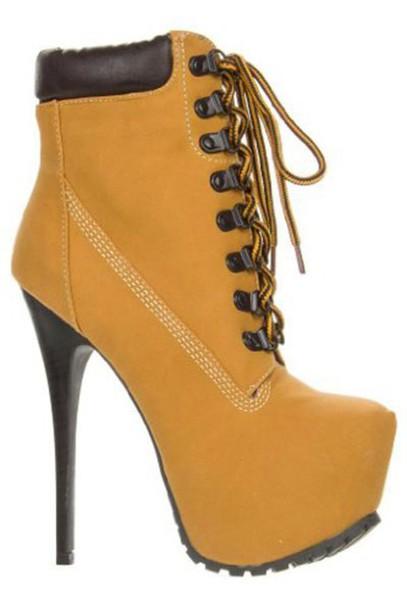 tan timberland heels