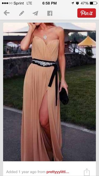 long prom chiffon sequin Belt