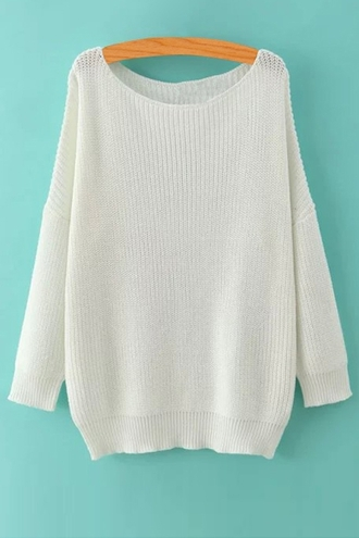 sweater white cream knit fall outfits cute oversized sweater cute top