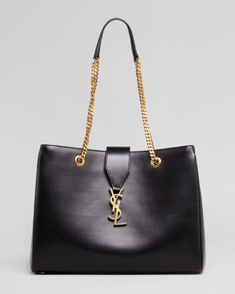 Saint Laurent Cassandre Chain-Strap Shopper Bag, Black - Neiman Marcus