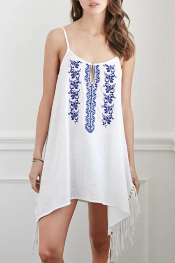 dress beautiful halo embroidered dress boho chic boho dress fashion summer dress summer outfits girly