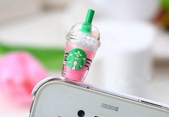 jewels starbucks coffee i phone phone pink green lovethis