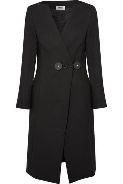 Mm6 Maison Margiela coat black